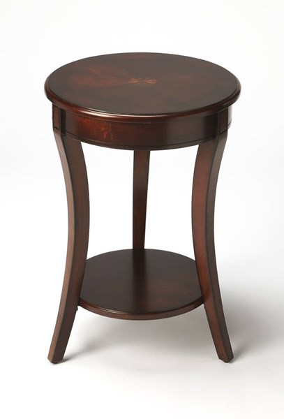 Plantation Cherry Holden Traditional Dark Brown Accent Table BSF-0992024