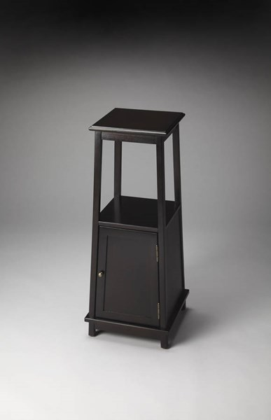 Masterpiece Tammerlin Transitional Rubbed Black Pedestal Cabinet BSF-1002234