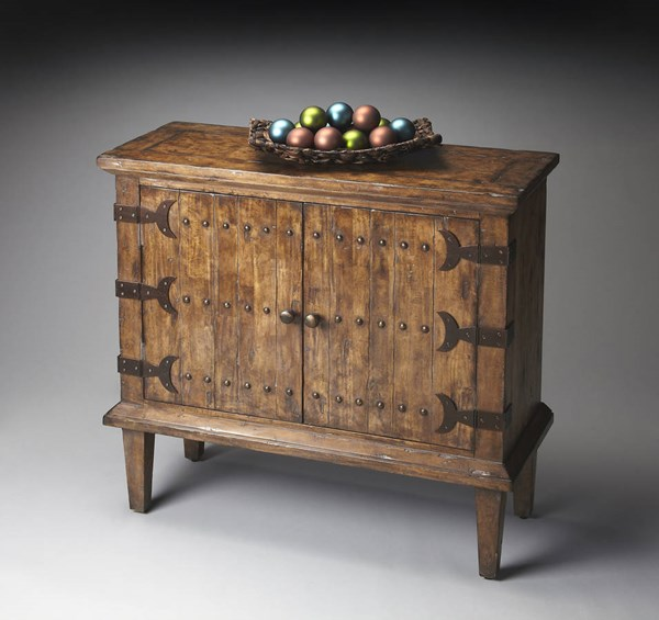 Mountain Lodge Traditional Medium Brown Rustic Console Cabinet bsf-1141120
