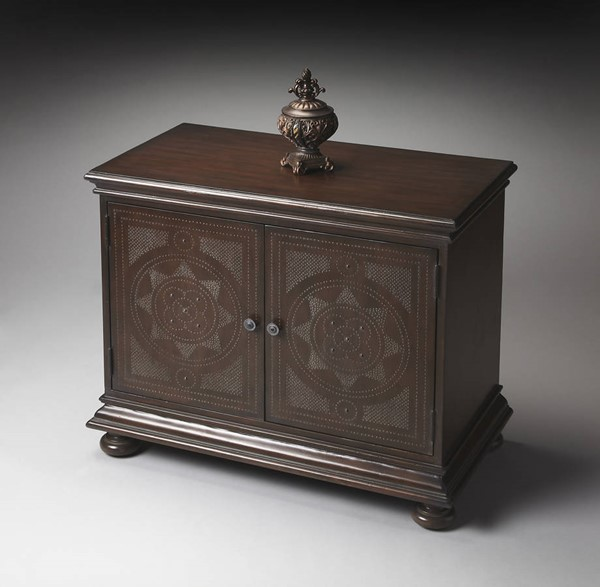 Heritage Tarot Traditional Dark Brown Console Cabinet bsf-1145070
