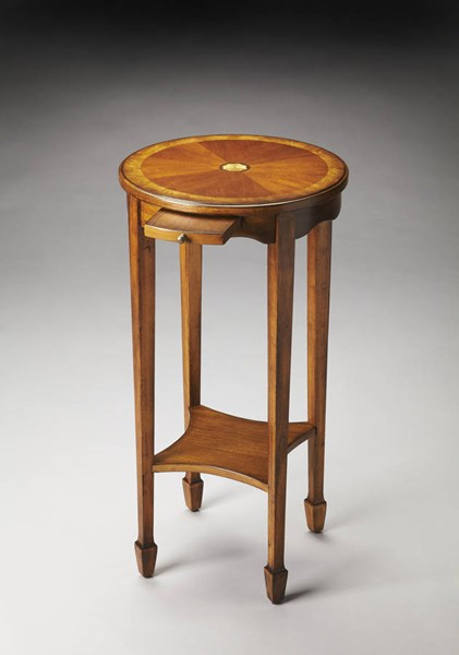 Masterpiece Kirby Traditional Medium Brown Poplar Accent Table BSF-1150101