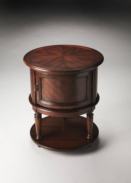Plantation Cherry Coffield Traditional Rubberwood MDF Drum Table bsf-1152024