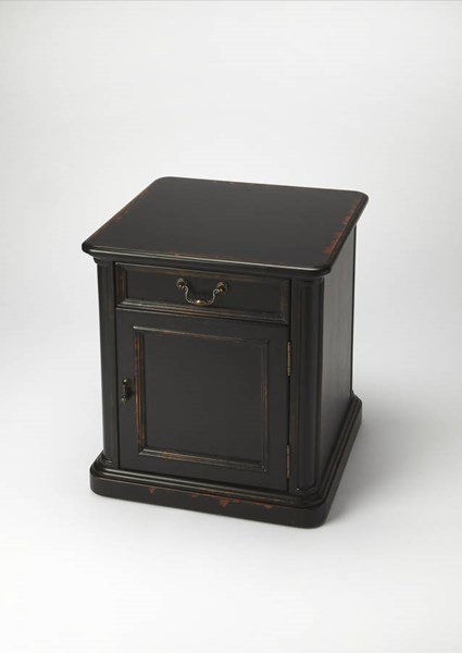 Masterpiece Thayer Black Midnight Rose Hardwood MDF Accent Table bsf-1155250
