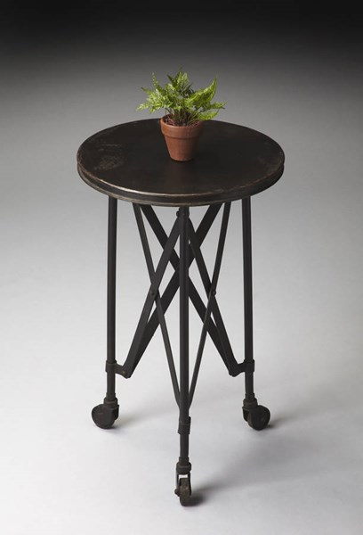 Industrial Chic Costigan Modern Black Accent Table BSF-1168025