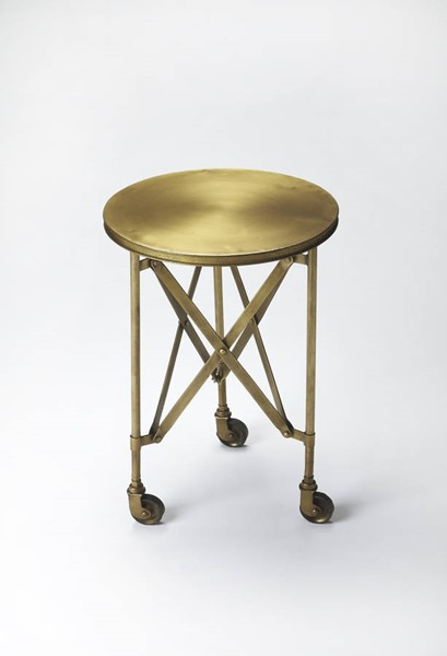 Industrial Chic Costigan Modern Antique Gold Iron Accent Table BSF-1168226
