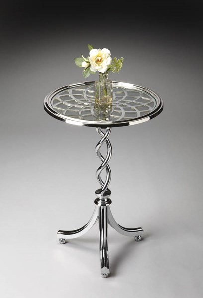 Modern Expressions Transitional Modern Silver Accent Table BSF-1169260