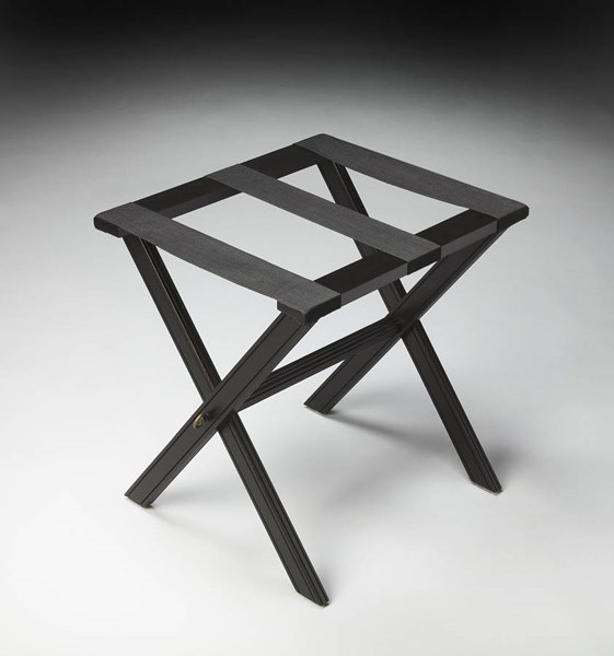 Masterpiece Anthony Black Licorice Poplar Rubberwood Luggage Rack BSF-1222111