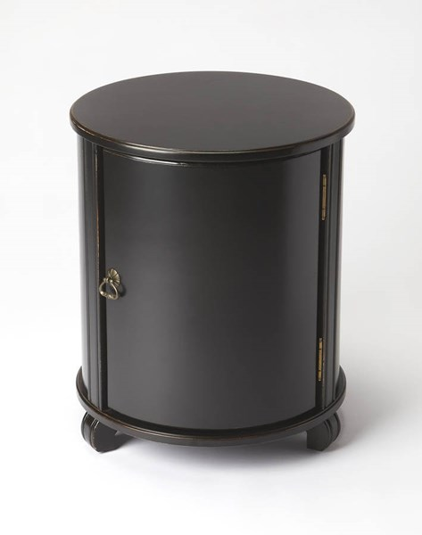 Masterpiece Lawrie Transitional Black Licorice Rubberwood Drum Table BSF-1260111