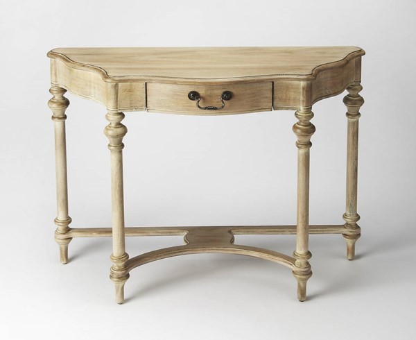 Masterpiece Morency Gray Driftwood Rubberwood MDF Console Table BSF-1263247