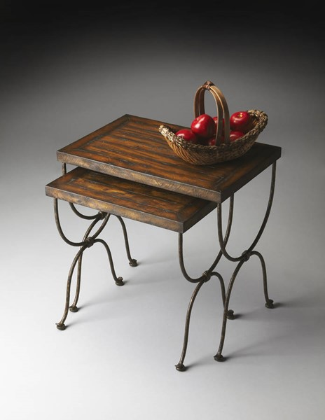 Mountain Lodge Transitional Nesting Tables BSF-1278120