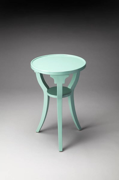 Butler Loft Dalton Transitional Green Resin Accent Table BSF-1328255