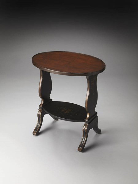 Artists Originals Briar Traditional Black Hand Painted Accent Table bsf-1336088