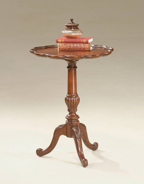 Plantation Cherry Dansby Traditional Dark Brown Pedestal Table BSF-1482024