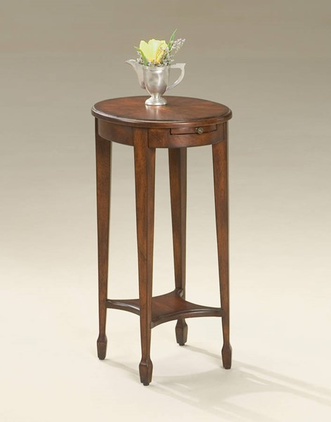 Plantation Cherry Arielle Traditional Dark Brown Accent Table BSF-1483024