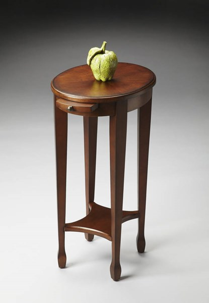 Masterpiece Arielle Traditional Brown Chestnut Burl Accent Table BSF-1483108