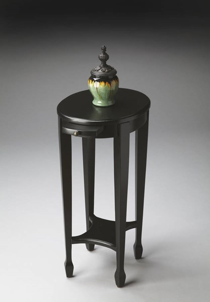 Masterpiece Arielle Transitional Black Licorice Accent Table BSF-1483111