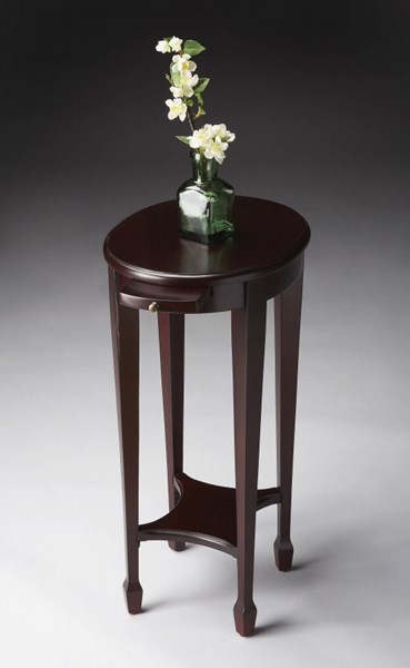 Masterpiece Transitional Dark Brown Wood Birch Veneers Accent Table BSF-1483224