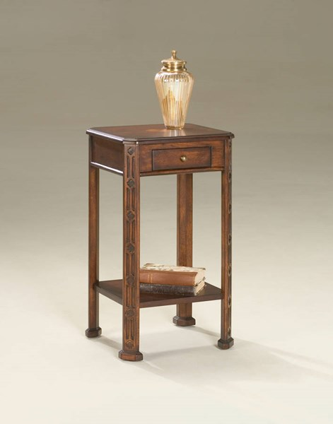 Plantation Cherry Moyer Traditional Dark Brown Accent Table BSF-1486024