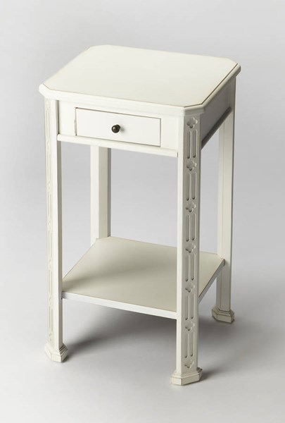 Masterpiece Moyer Cottage White Birch Rubberwood MDF Accent Table BSF-1486222