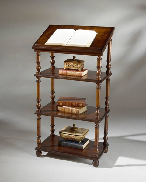 Plantation Cherry Alden Traditional Dark Brown Library Stand BSF-1512024