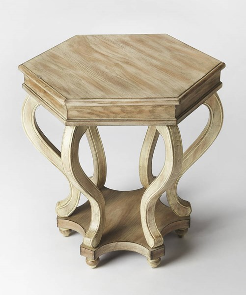 Masterpiece Margaret Transitional Driftwood Gray MDF Accent Table BSF-1560247