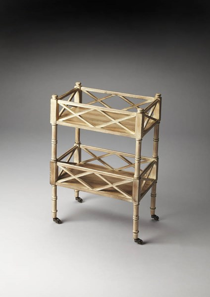Masterpiece Foster Gray Rubberwood MDF Mobile Server BSF-1565247