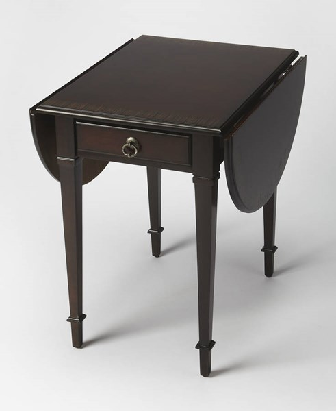 Masterpiece Glenview Dark Brown Hardwood MDF Pembroke Table BSF-1576211