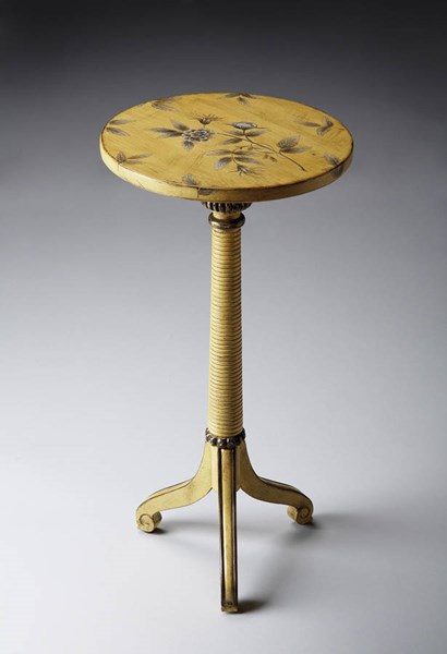 Artists Originals Florence Traditional Yellow Floral Pedestal Table BSF-1583196
