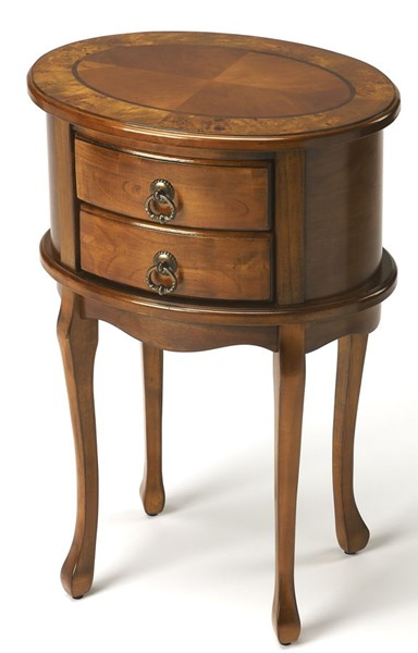 Butler Specialty Masterpiece Whitley Brown Oval Side Table BSF-1589101