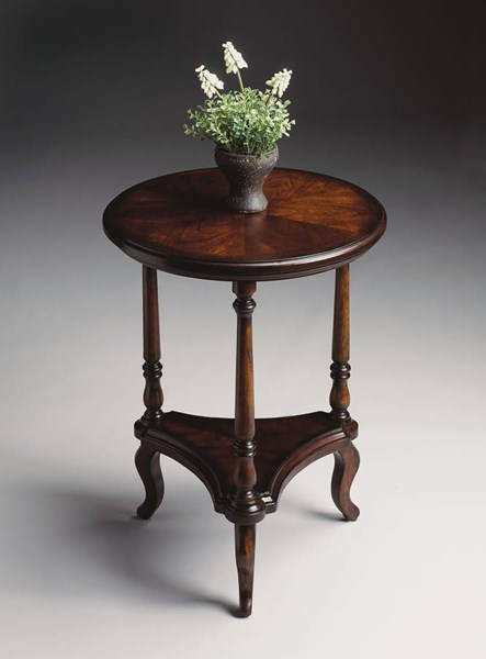 Plantation Cherry Petry Traditional Dark Brown Accent Table BSF-1590024