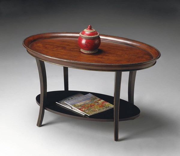 Butler Specialty Artists Originals Hamlet Cafe Noir Oval Cocktail Table BSF-1591104