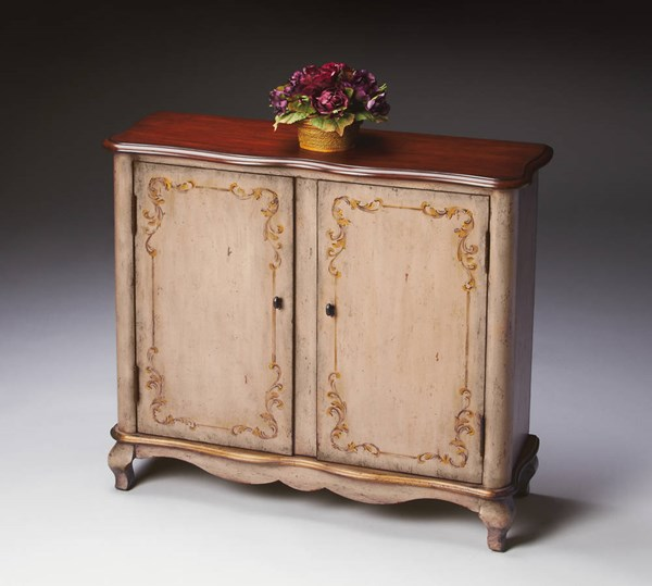 Artists Originals Leyden Traditional Shell Gray MDF Console Cabinet bsf-1737232