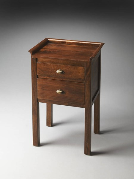 Artifacts Gabriel Transitional Dark Brown Solid Wood MDF Side Table BSF-1840290