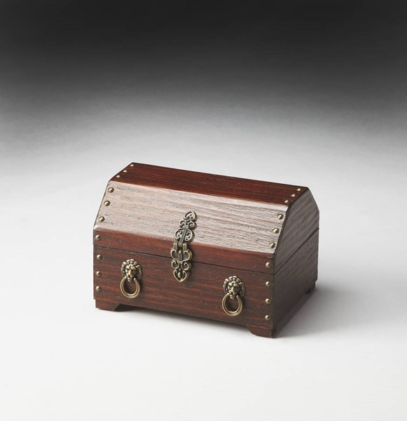Hors D Oeuvres Sausalito Traditional Dark Brown Hardwood Jewelry Box bsf-1852024