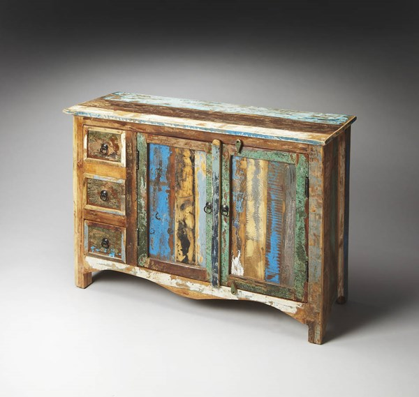 Artifacts Reverb Transitional Assorted Rustic Re-Cycled Wood Sideboard BSF-1858290
