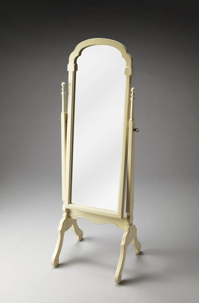 Artists Originals Meredith Traditional Cottage White Cheval Mirror BSF-1911222