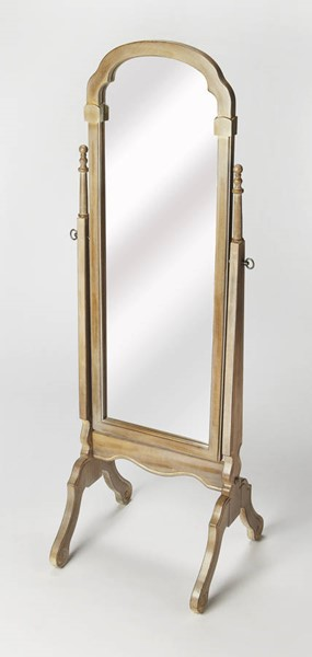 Masterpiece Meredith Gray Driftwood Solid Wood Cheval Mirror BSF-1911247