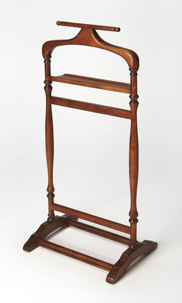 Masterpiece Judson Traditional Brown Olive Ash Hardwood Valet Stand BSF-1926101