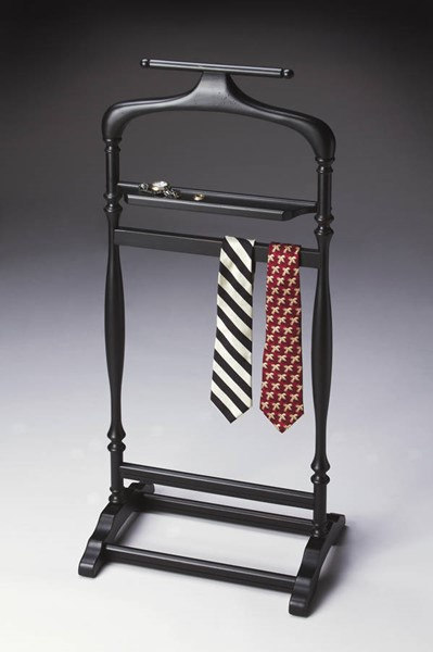 Masterpiece Judson Traditional Black Licorice Hardwood Valet Stand BSF-1926111
