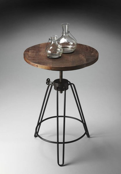 Industrial Chic Modern Iron Recycled Wood Accent Table BSF-2046025