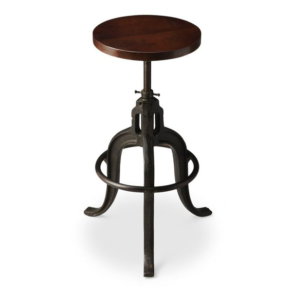 Butler Specialty Industrial Chic Revolving Circle Base Bar Stool BSF-2049025