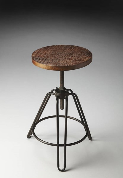 Industrial Chic Modern Iron Recycled Wood Revolving Bar Stool BSF-2050025