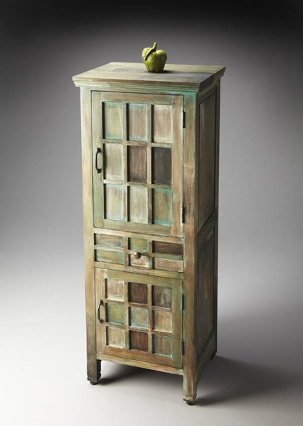 Artifacts Transitional Acacia Assorted Wood MDF Accent Cabinet BSF-2063290