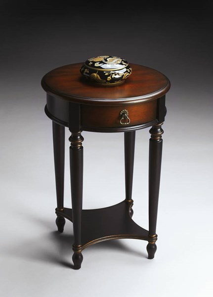 Artists Originals Jules Traditional Cafe Noir Accent Table BSF-2096104