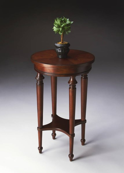 Plantation Cherry Blackwell Traditional Dark Brown Accent Table BSF-2100024