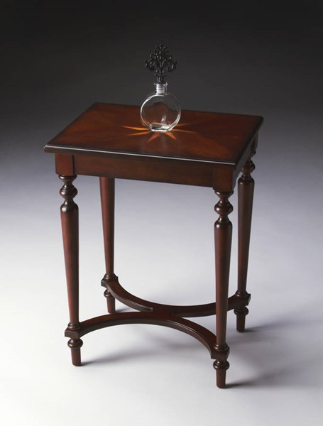 Plantation Cherry Tyler Traditional Dark Brown Accent Table BSF-2116024