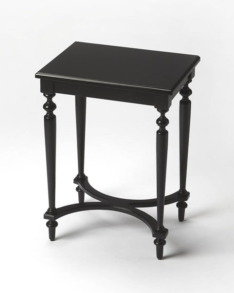 Masterpiece Tyler Black Licorice Birch Rubberwood MDF Accent Table BSF-2116111