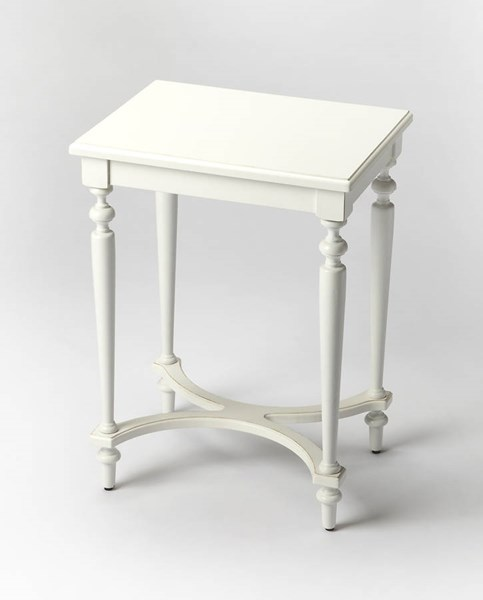 Masterpiece Tyler Cottage White Birch Rubberwood MDF Accent Table BSF-2116222