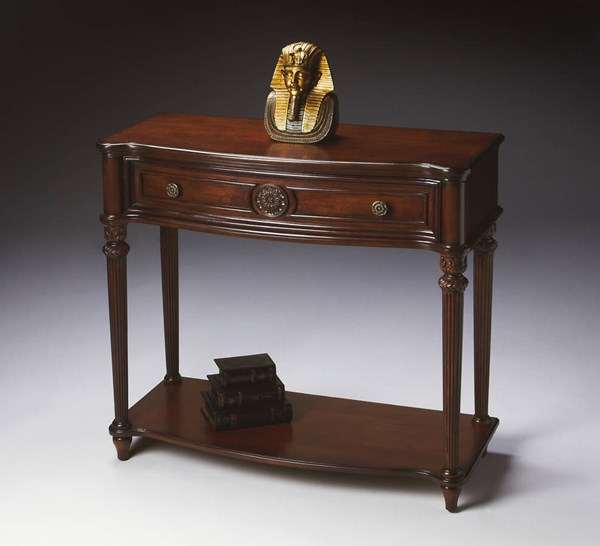 Plantation Cherry Peyton Traditional Dark Brown Console Table BSF-2130024