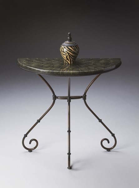 Metalworks Bronze Metal Half Round Console Table BSF-2194025